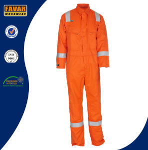 100% Cotton Two-Way Brass Zipper Fr Clothing Paches Safety Coverall