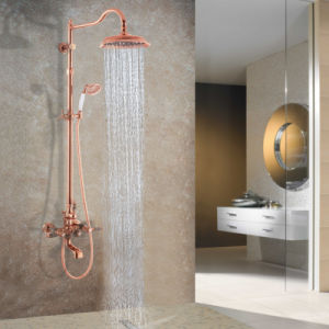 Rose Golden High Quality Brass Exposed Shower Mixer