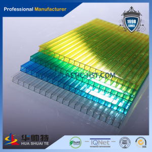 Blue Opal Polycarbonate PC Twin Wall Hollow Sheet pictures & photos