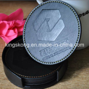 Hot Sell Promotion PU Drink Coaster /PU Leather Coaster pictures & photos