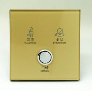 12V/ 220V Tempered Glass Push Button Hotel Smart System out Door Service Panel