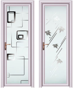 China New Products Aluminium Glass Toilet Door For Bathroom China