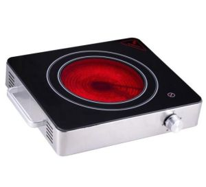 430 Stainless Steel Single Burner Ceramic Stove with Glass Plate pictures & photos