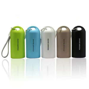 5200mAh Leather Effect Portable Keychain Power Bank Mobile Phone Accessories