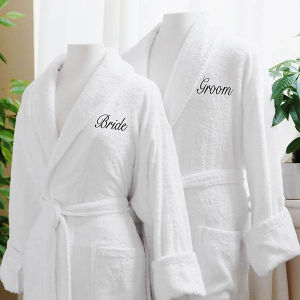 Couple′s Robes Cotton Luxurious Plush Terry Cloth Hotel White Bathrobe pictures & photos