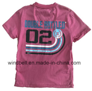 Comfortable Cotton T-Shirt for Boy with Rubber Print pictures & photos