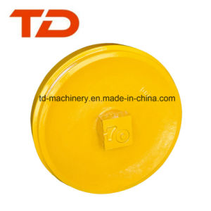 Excavator Spare Parts Daewoo Dh500 Track Front Idler Wheel Assembly Hardness Customized Material