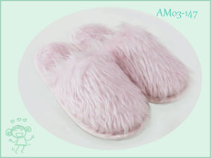 Winter Warm Indoor Pretty Plush Children Slippers Shoes pictures & photos