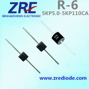 5000W 5kp5.0 Thru 5kp110ca Transient Voltage Suppressors Diode R-6 Package pictures & photos
