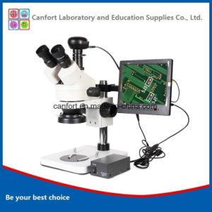 Digital Trinocular Stereomicroscope with CCD and LCD for Cellphone Repairs, Visual Inspection, Engraving/Surgical Exercises pictures & photos
