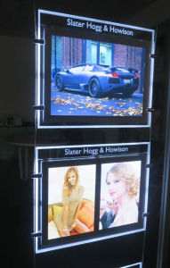 Magnetic Type Beveled Edge LED Window Displays pictures & photos