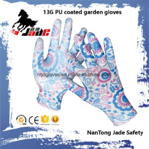 13G PU Coated Grden Glove pictures & photos