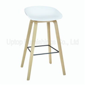 (SP UBC202) White Plastic Shell Counter Kitchen High Bar Stool Chairs