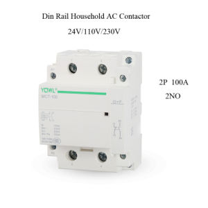 2p 100A Ict Household Modular DIN Rail AC Contactor pictures & photos