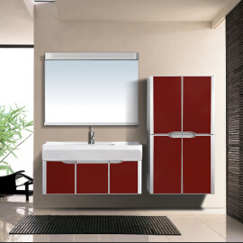 High Gloss Lacquer Finished Bathroom Vanity (V-26)