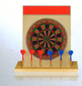 China 15kg Calendar Soft Wood Deaktop Dartobard In Color Box Jb F1