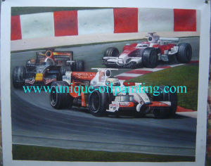 Oil Painting, Racing Car Oil Painting, Landscape Oil Painting