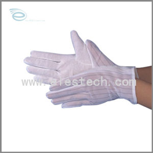 White ESD Antistatic Top Fit Fabric Nylon Glove