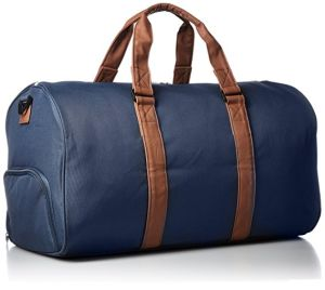 High-End Stylish Duffle Bag with PU Leather Trim pictures & photos