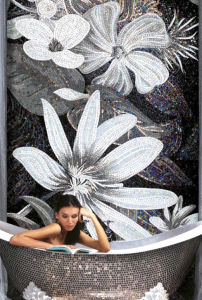 Background Design Mosaic, Glass Art Pattern Mosaic Wall Tile (HMP639) pictures & photos