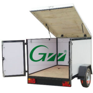 Enclosed Box Trailer with Pop up Roof Door pictures & photos