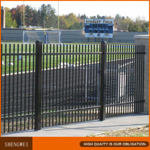 Steel Yard Welded Fence Panel and Pedestrian Door pictures & photos