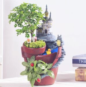 sweet house plant holders. Tiny Plants Pot Flower Succulent DIY Container Decorated with Mini  Hanging Fairy Garden and Sweet House China