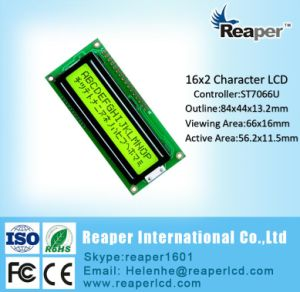 Character LCD Module COB Type Yellow-Green 16X2 Character LCD Display pictures & photos