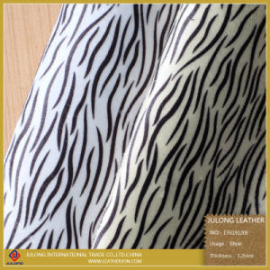 Hot Sale Zebra Pattern PU Artifical Synthetic Leather for Cloth (CF019120E) pictures & photos
