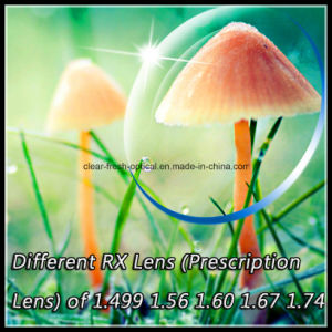 Different Rx Lens (Prescription Lens) of 1.499 1.56 1.60 1.67 1.74