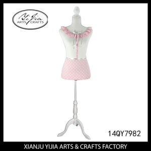 Handmade Pink Dress Display Doll for Shop Decoration