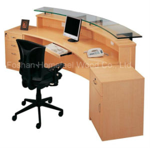New Design and Fashion Wooden Office Reception Table (HF-R007) pictures & photos