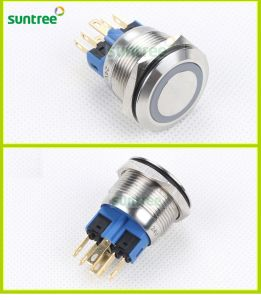 Dia 22mm Approved Ring Illuminated Pushbutton Switches pictures & photos