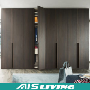 Modern High Glossy Black Wardrobe Closet Cabinet (AIS W150)