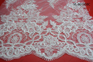Factory Wholesale Lace Fabric Low Price Wedding Vl-80195-Bc
