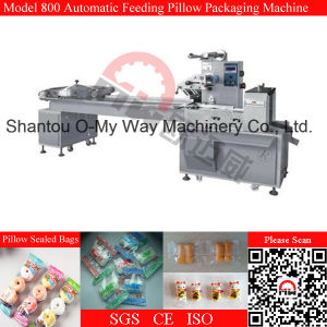 Pillow Type Food Automatic Pack Machine for Biscuit pictures & photos