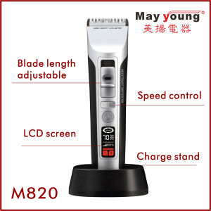 Wholesale Rechargeable Cord & Cordless Ceramic Blade LCD Hair Clipper pictures & photos