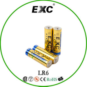 1.5V AA Lr6 Batteries with Exc Alkaline Battery for Home Use pictures & photos