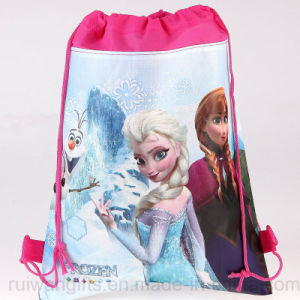 Wholesale Cartoon Frozen Drawstring Backpack for Kids pictures & photos
