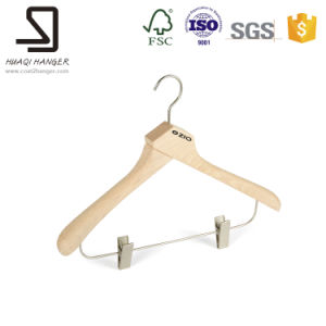 Natural Wood Hanger for Clothes Shop Display pictures & photos