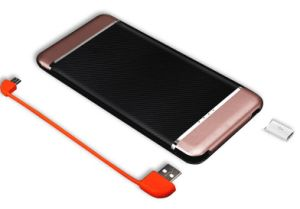 Good Quality 8000mAh Built in Cable Power Bank Slim with Power Indicator Light