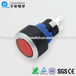 22mm 1no Nc/2no 2nc Resetable Self-Locking Flat IP65 Push Button Switch pictures & photos
