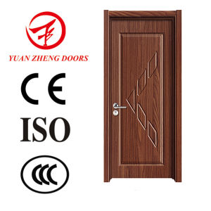 PU Wooden Color PVC Wood Door Made in China pictures & photos