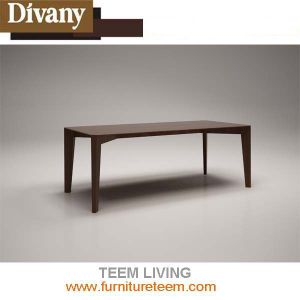Modern Home Furniture Dining Room Wooden Veneer Table pictures & photos