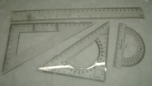 30cm Ruler Set Geometry Set Stationery Student Ruler School Ruler pictures & photos