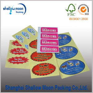 China Manufacture Label Sticker with Printing (QYZ346)