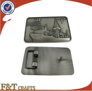 Wholesale Custom Made Boat Shape Antique Belt Buckles (FTBB2800A) pictures & photos