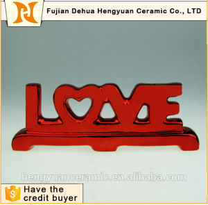 Love Pattern Ceramic Crafts for Wedding Decorative pictures & photos