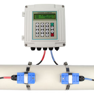 Ultrasonic Wall Mounted Clamp-on Fixed Flowmeter
