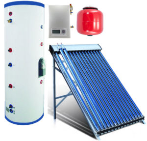 Active Split Pressure Solar Water Heater System with Heat Pipes pictures & photos